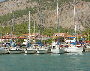 Budget Sailing Turkey yachts in Göcek, in front of head office